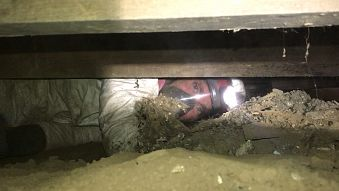 Crawl space restoration, repair, insulation removal
